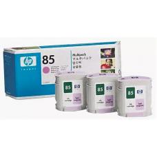 Скупка картриджей BLACKTRADE.RU - C9435A HP №85 Тройная упаковка светло-пурпурных картриджей для плоттеров HP DJ 30/ 90/ 130 3шт C9429A