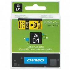 Скупка картриджей BLACKTRADE.RU - Продать S0720790 DYMO Картридж с пластиковой желтой лентой D1 шрифт черный для DYMO Label Manager 210D/ 280/PnP/ 420P/ 500TS (7 м/6 мм)