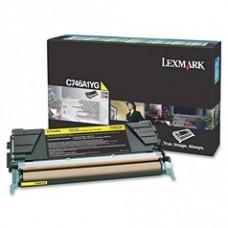 Скупка картриджей BLACKTRADE.RU - Продать C746A1YG Lexmark тонер картридж желтый для C746, C748 (7000 стр.) Return Program